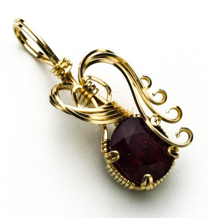 Blood Red Ruby in Gold