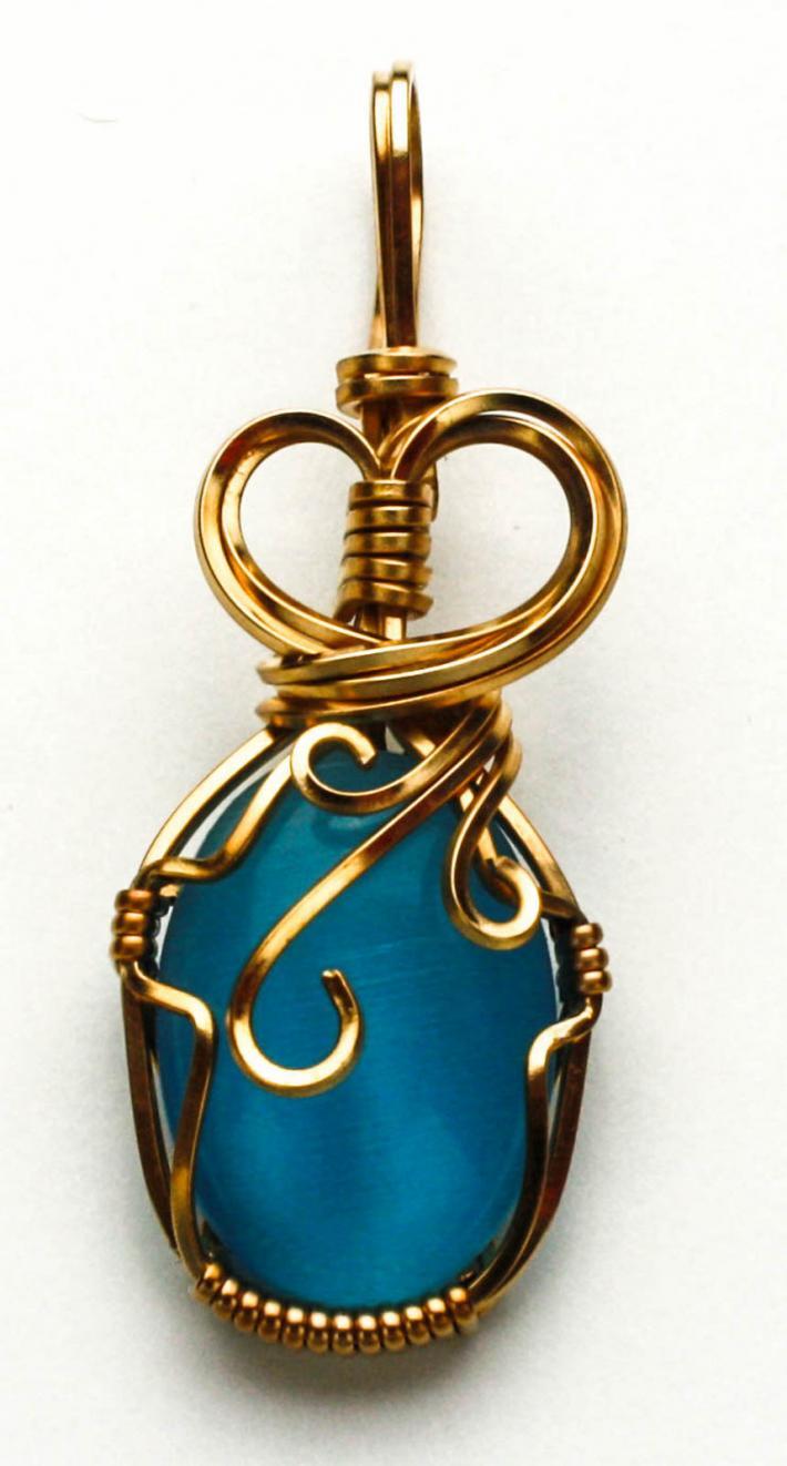 Turquoise Catseye Pendant