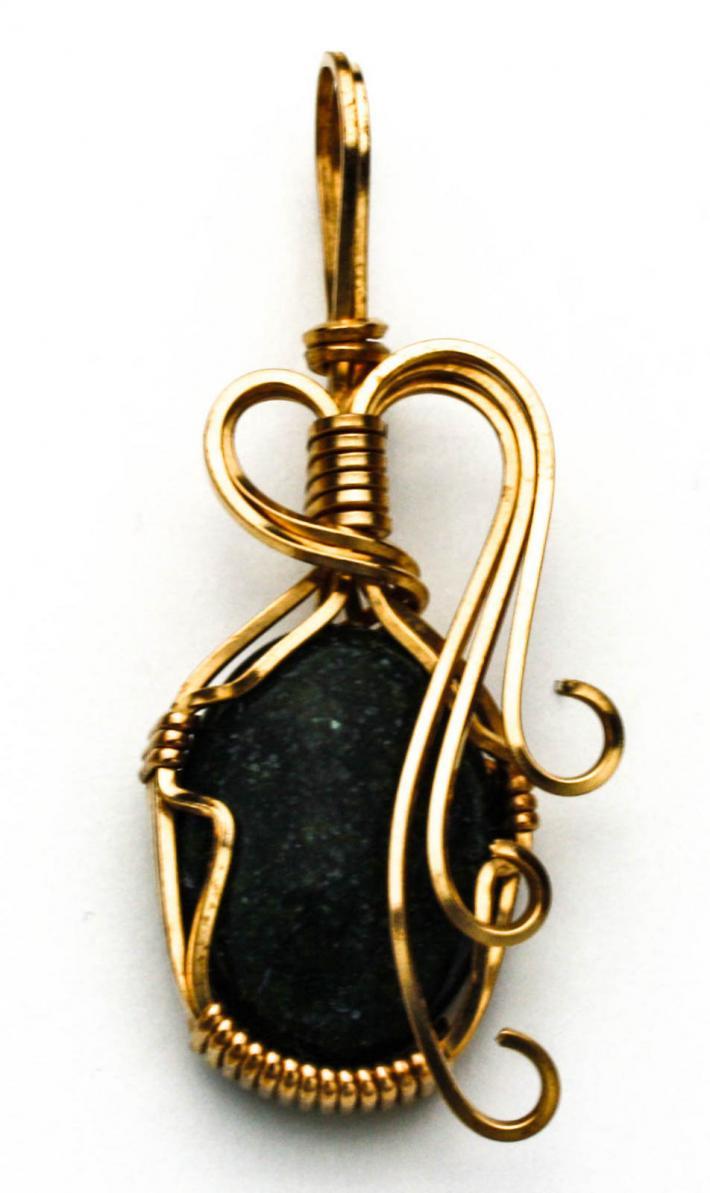 Black Catseye Pendant