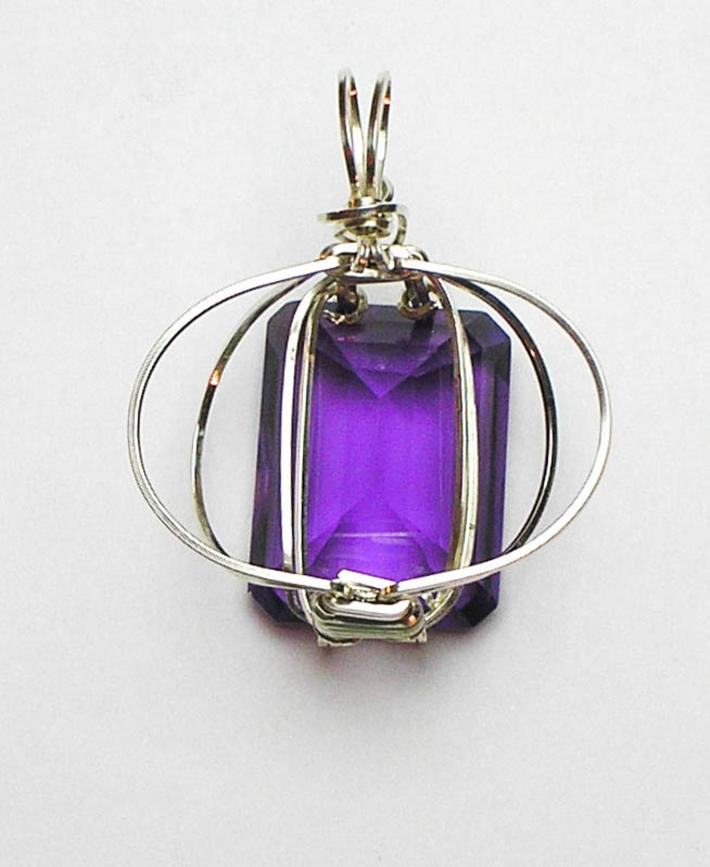 Amethyst Argentium Sterling Silver Pendant