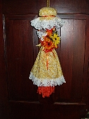 Macrame Kitchen Witch with Floral
