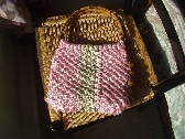 Macrame Purse with Rattan Handles