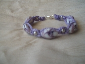 Macrame Bracelet (Orchid Swirl)