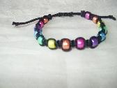 Macrame Rainbow Bracelet  Black