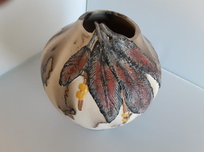 Ceramic Fired Horsehair Decorative Vase