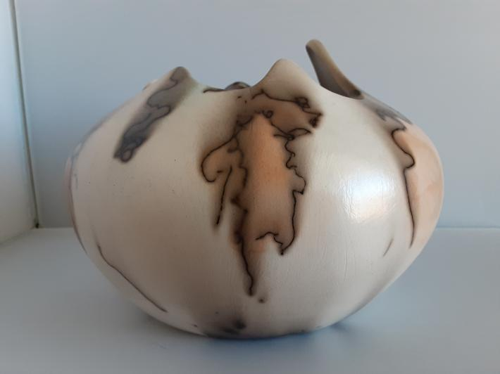Ceramic Fired horsehair and Pottery Decorative Vase