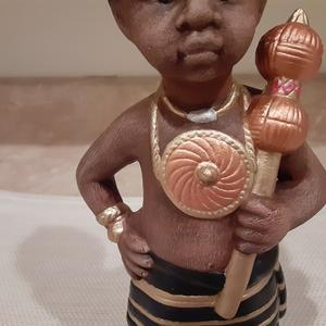 Ceramic African Boy King