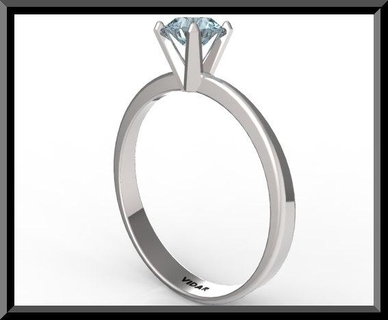 ON SALE Silver Engagement Ring With Blue Topaz