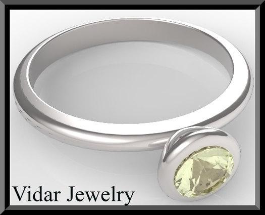 ON SALE Silver Engagement Ring With Lemon Quartz