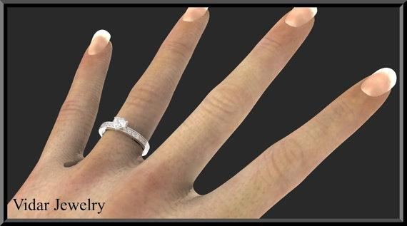 ON SALE Unique Sterling Silver Heart Engagement Ring