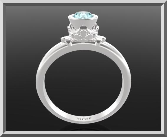 Blue Topaz Sterling Silver Engagement Ring