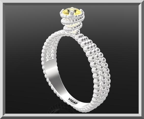 ON SALE 925 Sterling Silver Spiral Engagement Ring With Yellow Citrine Gemstone