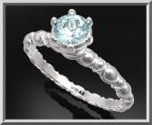 Gorgeous Blue Topaz Sterling Silver Engagement Ring