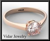 ON SALE Statement Pink Morganite 14k Rose Gold Engagement Ring