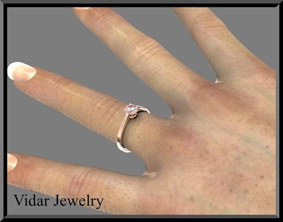 ON SALE Statement Pink Morganite 14k Rose Gold Engagement Ring