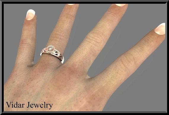 ON SALE Pink Morganite And Diamond 14k Rose Gold Engagement Ring