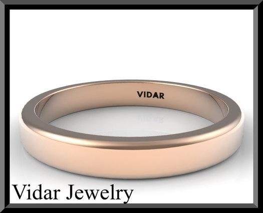 ON SALE Simple 14k Rose Gold Woman Wedding Ring