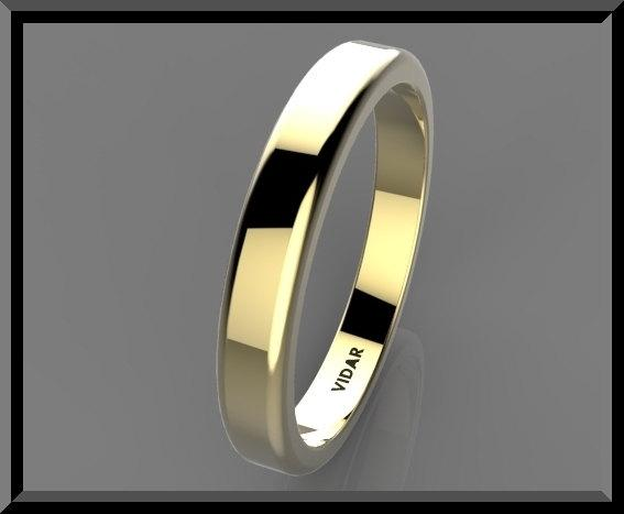 ON SALE Simple 14k Yellow Gold Woman Wedding Ring