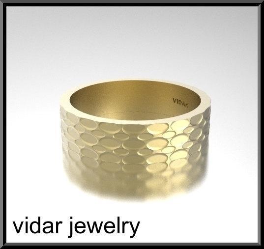 ON SALE Gorgeous 14k Yellow Gold Unisex Wedding Ring