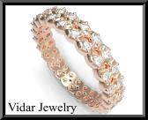 ON SALE Eternity Diamond 14k Rose Gold Woman Wedding Ring