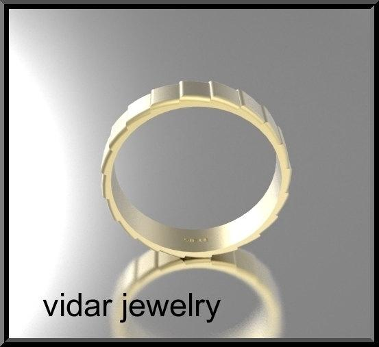 ON SALE Classic 14k Yellow Gold Man Wedding Ring