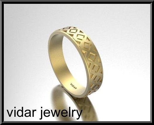 ON SALE Classic And Stylish 14 Yellow Gold Man Wedding Ring