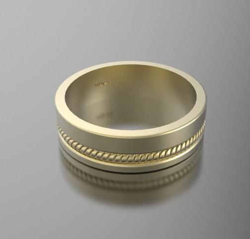 ON SALE Beautiful 14k Yellow Gold Unisex Wedding Ring