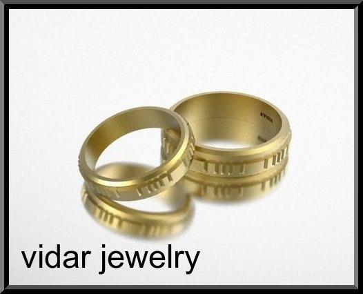 ON SALE His And Hers 14K Yellow Gold Matching Wedding Bands Set