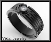 ON SALE Star Wars 14k Black Gold Diamond Men Wedding Ring