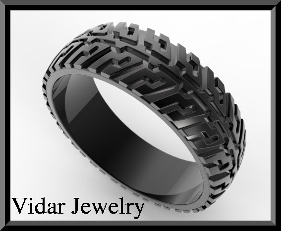 on sale black gold tire tread men wedding ring - Mens Wedding Rings Black