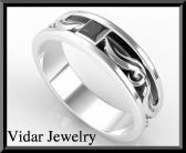 ON SALE Unique 2 Tone Men Wedding Ring