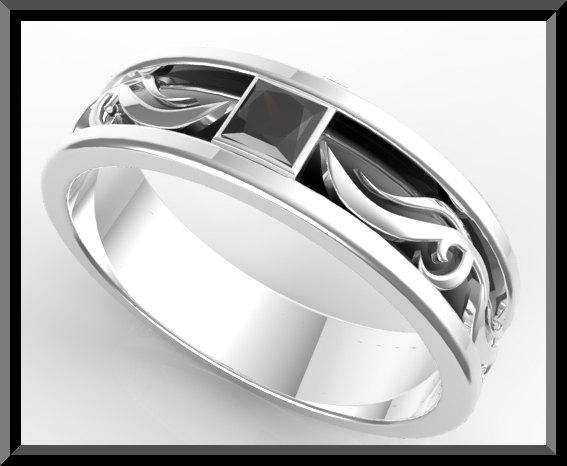 ON SALE Unique 2 Tone Men Wedding Ring