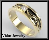 ON SALE 2 Tone Men Wedding Ring