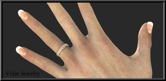 ON SALE Amazing Bubble 14k Rose Gold Women Wedding Ring
