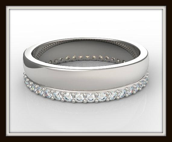 ON SALE Elegant 14k White Gold Diamond Women Wedding Ring
