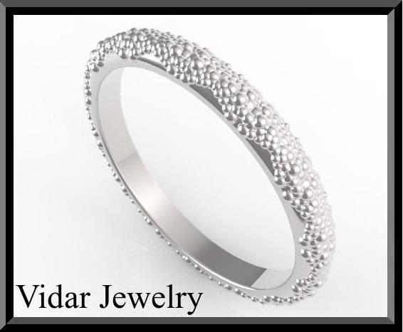 ON SALE Elegant And Classic 14k White Gold Women Wedding Ring