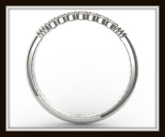 ON SALE Delicate 14k White Gold Diamond Women Wedding Ring