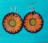 Leather Flower jewelry