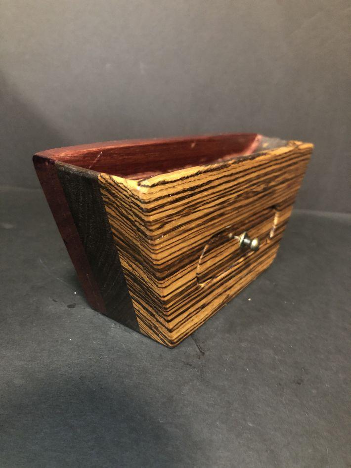 The Scoop Zebra Bandsaw Jewelry Box