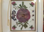 Large Brass Frame with Dried Flowers