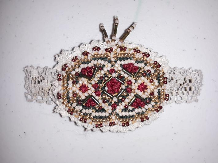 Antique Lace Beaded Barrette