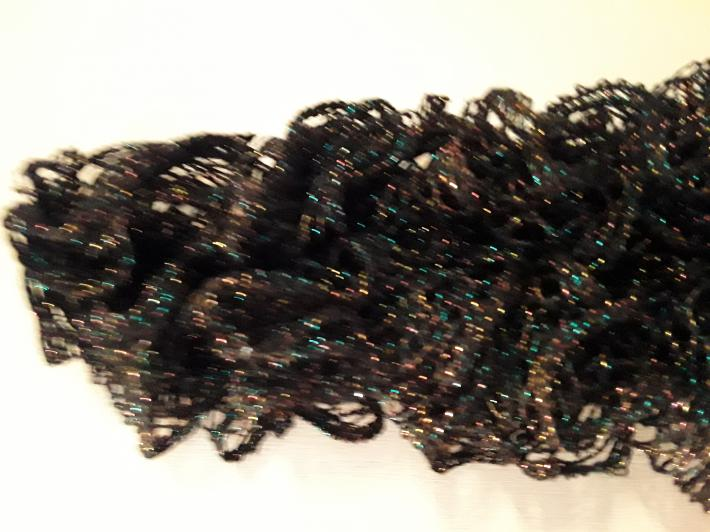Black Sequined Knit Scarf
