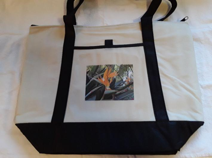 Bird of Paradise Canvas Tote