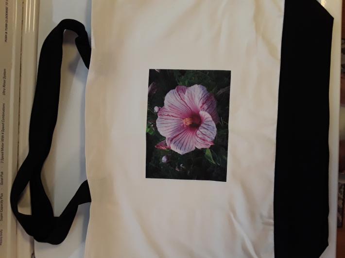 Hibiscus Flower Canvas Tote Bag