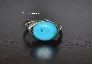 Chalk Turquoise and Sterling Silver Wire Wrapped Ring Size 7