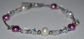Pearl Swarovski Crystal Sterling Silver Bracelet