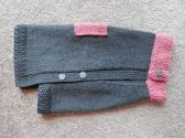 Hand Knit Dog Sweater in Size Medium