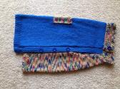 Hand Knit Dog Sweater in Size Large