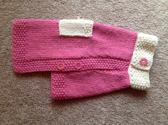 Hand Knit Dog Sweater in Size Small