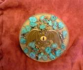 Eye Turquoise Orgone Plate Charger